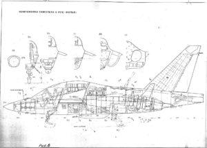 Pôvodný výkres návrhu bojovej verzie lietadla JAK/AEM